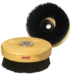 "Carpet and Upholstery Shampoo Brush for Rotary Buffers–Polishers, 5"" Wood Block"