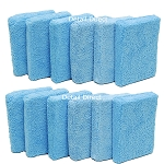 4.5 x 3.5 x 1 Inch Microfiber Applicator Pads 12-Pack